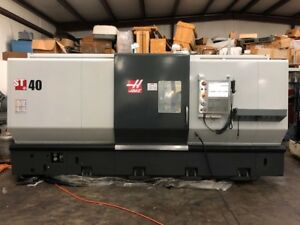 Used Haas St 40t Cnc Lathe 2014 Steady Rest Tailstock 15 Chuck Gearbox Presette