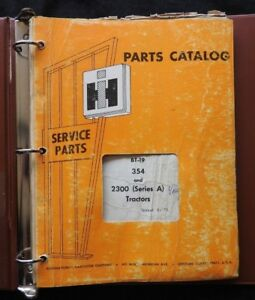 Genuine 1973 International Harvester 354 2300 Series A Tractor Parts Manual