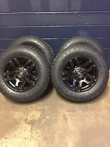 18 Fuel Pump Black Wheels 33 Toyo At2 Wheel And Tires Package Chevy Gmc 6x5 5