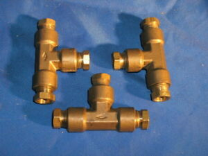 Imperial Eastman Brass Union Tee 3 8 Tube 84lb06 Lot Of 3
