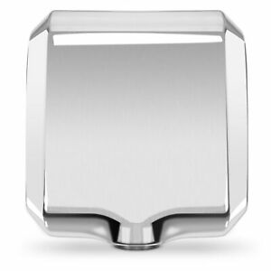 Stainless Steel Polished Commercial Hand Dryer 1800w Automatic High Speed 100m s