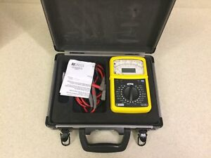 Digital analogue Multimeter Handheld Chauvin Arnoux c a 5011 In Aluminum Case