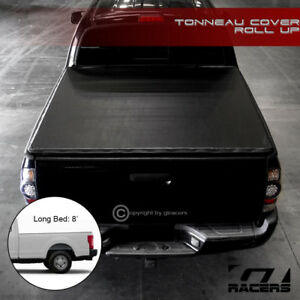 For 2017 2019 Ford F250 f350 Sd 8 Ft Bed Lock Roll Up Soft Vinyl Tonneau Cover