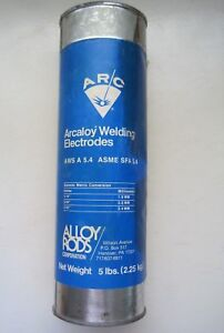 Nos Sealed 5 Lb Stainless Steel Welding Electrode Alloy Rods E308l 16