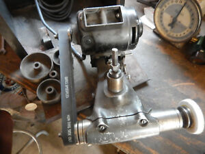 Dumore 7 011 Tool Post Grinder W Case And Pulleys Machinist Metal Lathe Tooling
