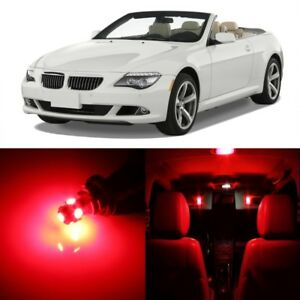 12 X Red Led Interior Light Package For 2005 2010 Bmw 6 Series E63 E64 Tool