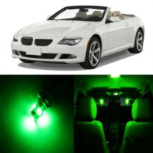 12 X Green Led Interior Light Package For 2005 2010 Bmw 6 Series E63 E64 Tool