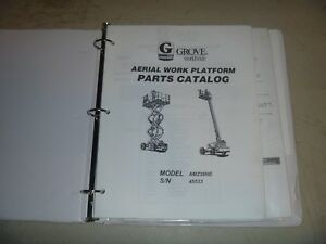 Grove Amz39ne Articulated Knuckle Boom Lift Electrical Parts Catalog Manual
