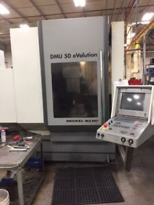Used Dmg Dmu 50 Evolution Cnc Vertical Mill 1999 5 axis Heidenhain 20 16 15