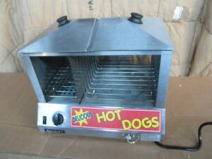 Adcraft Hds 1200w Hot Dog Machine Bun Steamer Stainless