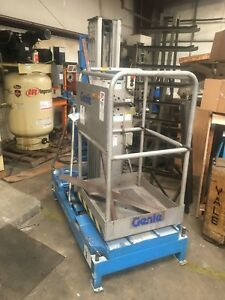 1999 Genie One Man Lift 20ft With Extended Platform Certified