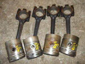 Farmall C Sc Rowcrop Tractor Ih 4 Engine Motor Pistons Rings Rods