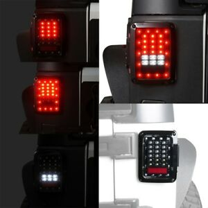 Clear Led Rear Tail Lights Pair For Usa Jeep Wrangler Jk 2007 2018