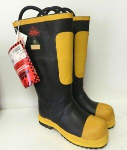 Black Diamond Structural Firefighter Safety Boots Size 7 5m 9 5w Wide