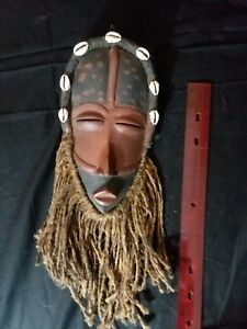 Extremely Rare Antique African Tribal Hand Carved Liberian Wood Mask