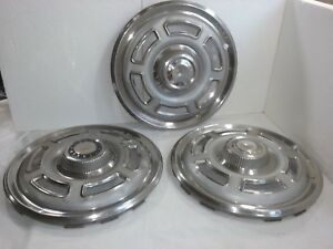1965 1966 Ford Falcon Hub Caps 14 Set Of 3 Stainless hc953