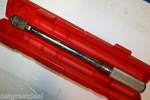 Snap on Tools 3 8 Drive Click Type Us Fixed ratchet 5 75 Ft Lb Torque Wrench