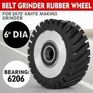 Belt Grinder Rubber Wheel For 2x72 Knife Making Grinder