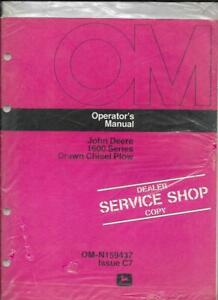 John Deere 1600 Series Drawn Chisel Plow Operator s Manual Om n159437 Issue C7