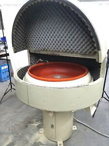 Almco 3 Cubic Foot Vibratory Finishing Machine Polish Deburr W sound Proof Cover