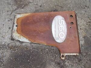 Farmall 560 Tractor Ih Ihc Radiator Left Side Cover Panel W Emblem