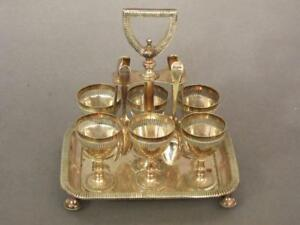 Fine Antique Silver Plated 6 Egg Cup Cruet Stand By Walker Hall 1880 Coddler