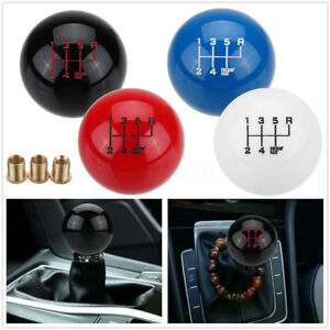 M16x1 5 6 Manual Speed Round Ball Gear Shift Knob Short Shifter Lever Universal