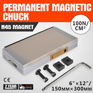 6 X 12 Fine Pole Magnetic Chuck Industrial High Precision W removable Handle