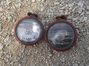 2 Farmall Ih 300 350 400 230 Tractor Front Working Orignl 6v Head Light Lights