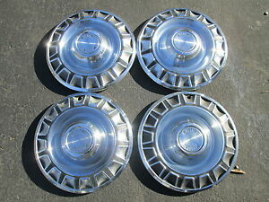 Genuine 1970 Ford Mustang 14 Inch Hubcaps Wheel Covers
