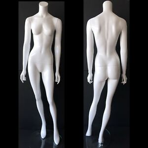 Modern White Mannequin Commercial Display Female Full Size Headless With Stand