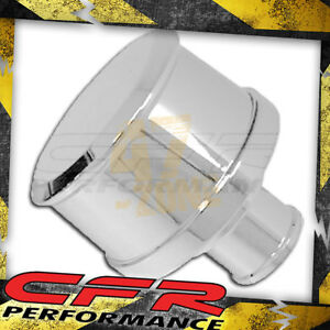 Chevy Ford Mopar Chrome Billet Aluminum Breather Smooth