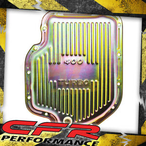 Chevy Gm Turbo Th 400 Steel Transmission Pan Zinc