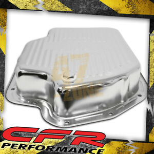 Chevy Gm Turbo Th 400 Steel Transmission Pan Deep Sump Chrome
