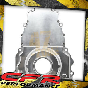 Aluminum Chevy Ls Two Piece Timing Chain Cover W O Cam Sensor Hole Polished