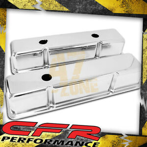 1958 86 Chevy Small Block 283 305 327 350 400 Tall Smooth Valve Covers Chrome