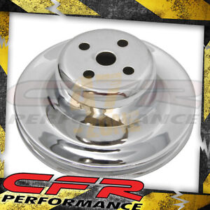 Steel 1965 1966 Ford Sb Water Pump Pulley 1 Groove Chrome