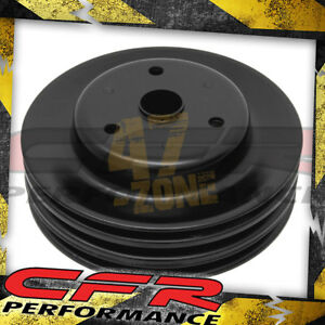 1969 85 Chevy Small Block Black Steel Crankshaft Pulley Long 3 Groove