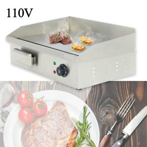 110v Commercial Stainless Steel Electric Griddle Grill Home Bbq Plate 3000w
