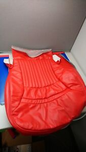 97 04 Nos New Gm Corvette Driver Or Passenger Seat Bottom Cover Red 12455451