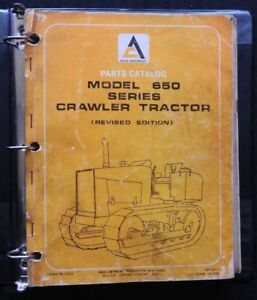 1979 Genuine Allis Chalmers 650 655 Crawler Backhoe Tractor Parts Catalog Manual