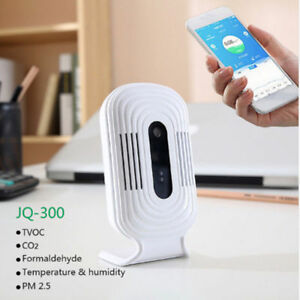 Jq300 Pm2 5 Air Quality Humidity Tester Wifi Smart Monitor Formaldehyde Detector