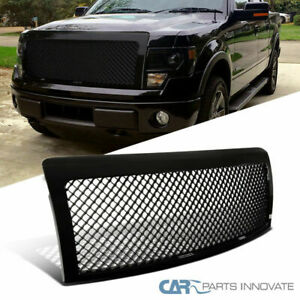 Ford 09 14 F150 F 150 Pickup Glossy Black Mesh Style Front Hood Grill Grille