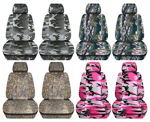 Truck Seat Covers 2014 2018 Chevy Silverado Camouflage Design Custom Fit Front