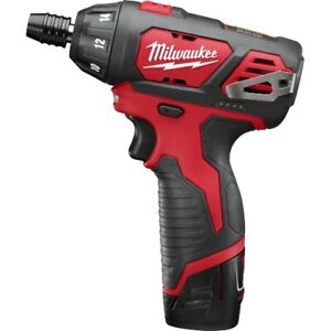 Milwaukee 2401 22 M12 Lithium ion 12v Sub compact Driver Drill Kit