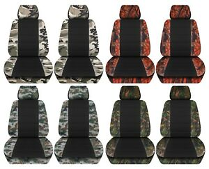 Truck Seat Covers 2014 2018 Chevy Silverado Camouflage With Black Design Front