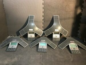 Lot Of 5 Cisco 7937 Cp 7937g Ip Conference Stations Phone Only
