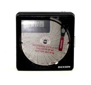Dickson Temperature Chart Recorder 7day Or 24 hour Rotation very Good Condition