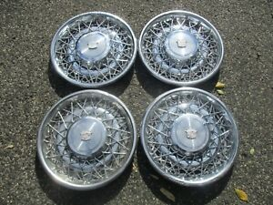 1975 To 1984 Cadillac Deville Wire Spoke 15 Inch Hubcaps Wheel Covers Beaters