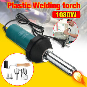 1080w Hot Air Gas Torch Plastic Welding Gun Welder Pistol Tools Nozzle